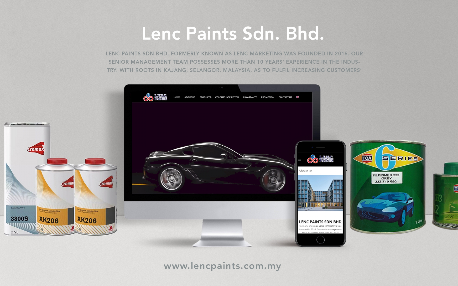 "<a href=""http://welcome.lencpaints.com.my"" target=""_blank"">Lenc Paint Sdn. Bhd.</a>"
